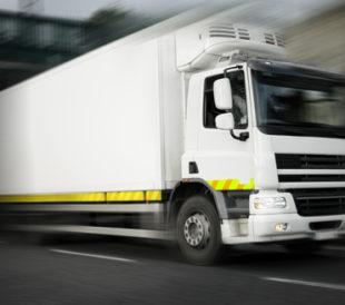 Refrigerated truck in motion. Image: Rihardzz/Shutterstock.com