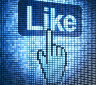 Screen with Like button and hand-shaped cursor, 3d render. Image: Maksim Kabakou/Shutterstock.com.