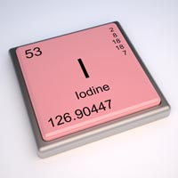 Iodine element stamp