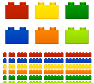 Colour organised bricks