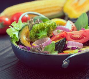 Fresh vegetable salad, healthy food