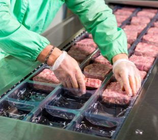 Meat packing production line