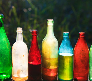 colored glass may affect spectroscopy scan