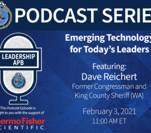A graphic advertises a podcast series: Emerging Technology for Today's Leaders