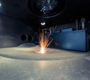 3D metal printer using laser sintering process