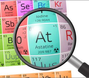Astatine analysis with XRF