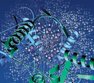 Computer image of a protein structure. Image: Promotive/Shutterstock.com