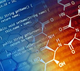 Program code and chemical formula. Image: isak55/Shutterstock.com